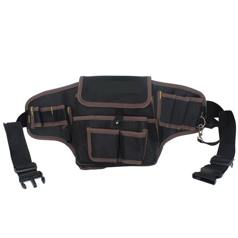 Electrician Oxford Canvas Waterproof Storage Hand  Tool Bag Safe Belt Waist Bag Belt Pouch Organizer Repair Tool Storage Bag