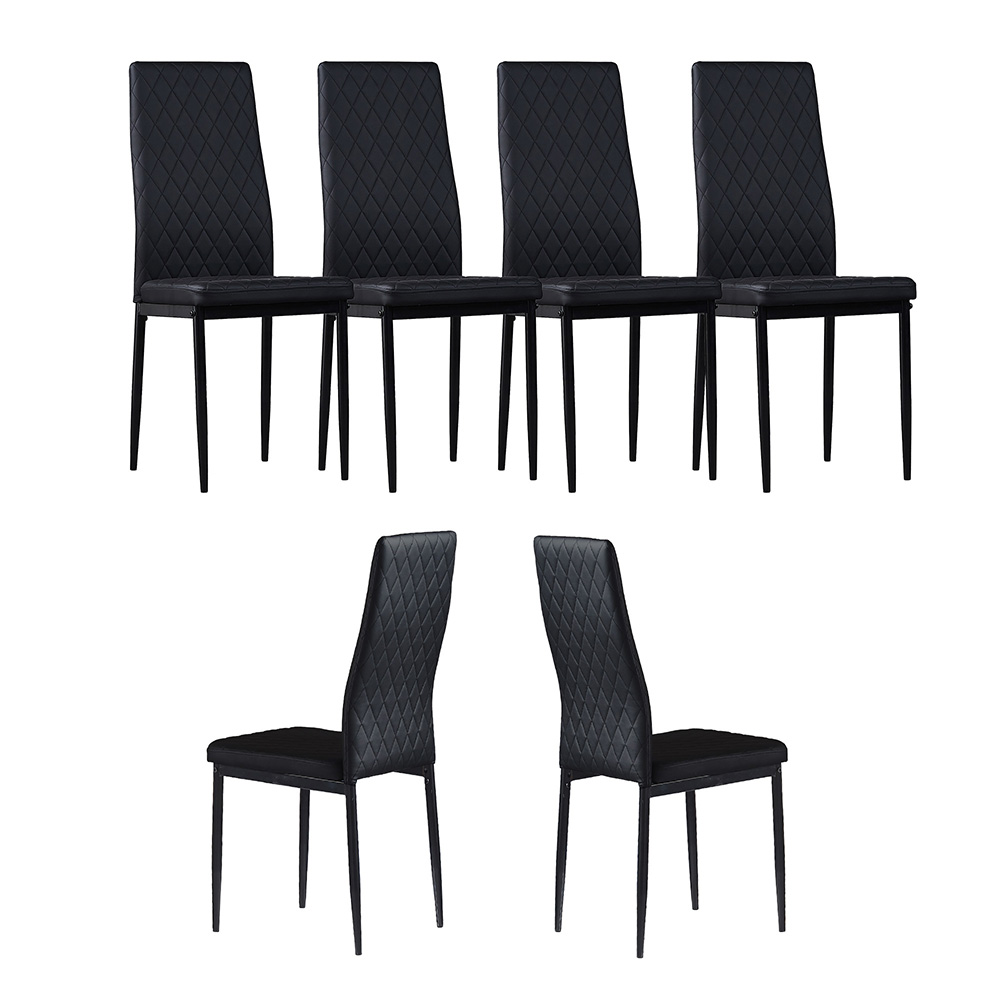 Black Dining Chairs Set Of 6 Dining Room Kitchen Restaurant Furniture Dining Chairs Aliexpress