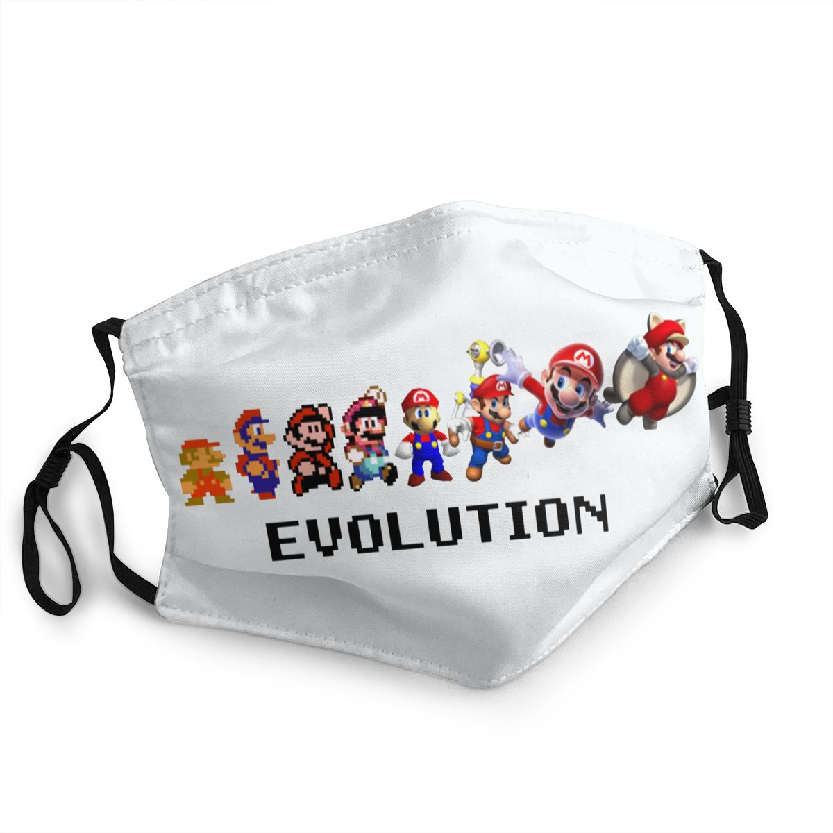 Super Mario Evolution Adult Non-Disposable Face Mask Anti Bacterial Dust Mask Protection Mask Respirator Mouth Muffle