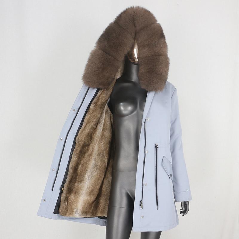 He214071800824c2d8426541c18b2e8c7f CXFS 2021 New Long Waterproof Parka Winter Jacket Women Real Fur Coat Natural Raccoon Fur Hood Thick Warm Streetwear Removable