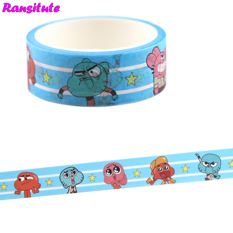 Cartoon Anime Cartoon Cute Washi Tape Sticker Traffic Tape Toy Car Decoration Office Masking Tape Gift R709