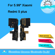 Оригинальная плата зарядного устройства M & Sen с usb портом, гибкий кабель для док станции Xiaomi Redmi 5 plus, разъем с гибким кабелем для микрофона