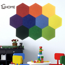 10Pcs 3D Felt Hexagon Storage Wall Stickers Letter Message Board Photo Display Board DIY Art Wall Decor Stickers Home Decoration tanie tanio hers Plane Wall Sticker Modern For Refrigerator For Cabinet Stove For Tile For Wall Furniture Stickers Window Stickers Multi-piece Package