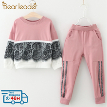 Bear Leader Girls Clothing Sets New Spring Active girls clothes L Chil