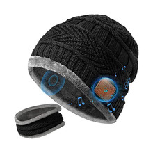 Bluetooth Hat Beanie Warm Winter Outdoor Wireless Scarf Earphone Riding-Hat V5.0 Skiing