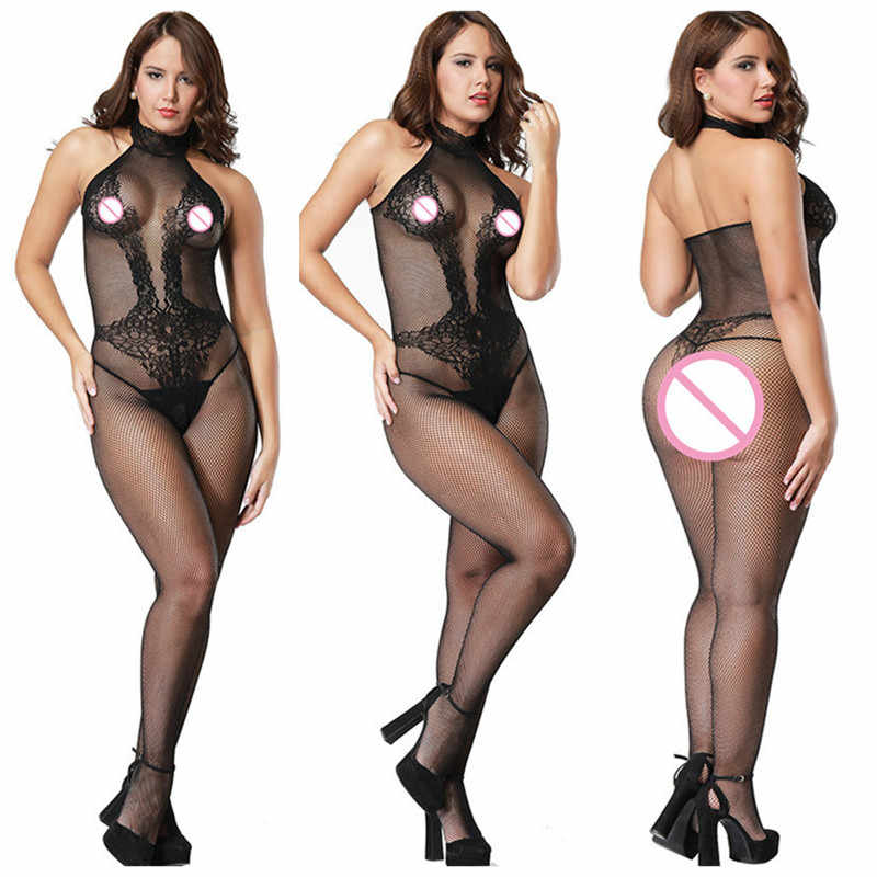 New Womens transparent Open Crotch Bodystocking Sexy Erotic Lingerie Teddies Body suits Crotchless bodysuit sleepwear Tights