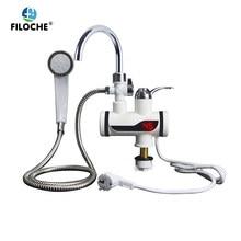 Instantâneo chuveiro elétrico aquecedor de água instantâneo torneira quente da cozinha elétrico aquecedor de água aquecimento instantâneo