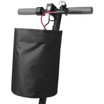 Bolsa frontal de Scooter eléctrico, manillar de monopatín, cesta de almacenamiento colgante para Segway Ninebot ES1 ES2 Xiaomi Mijia M365, accesorios