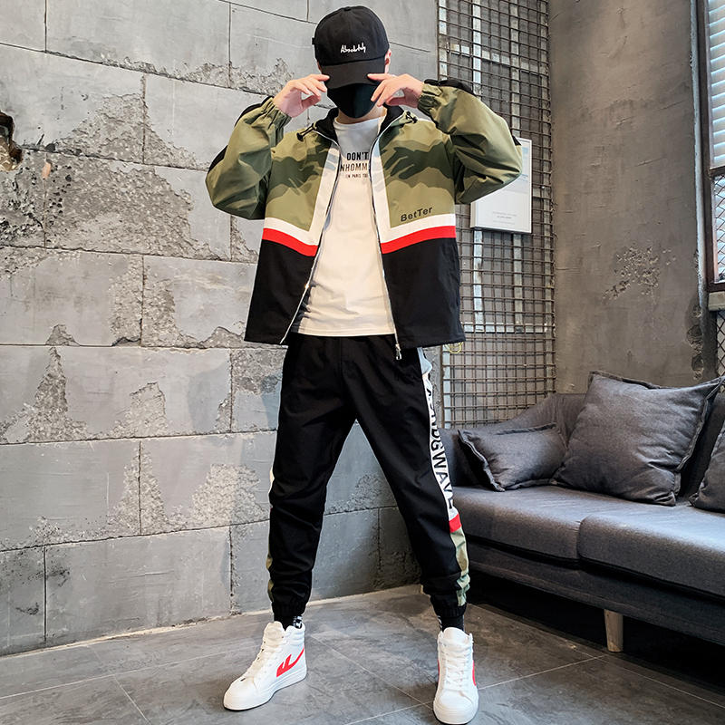 Two Piece Casual Set Men's New Spring Autumn Hoodie Sweater Jacket Joggers Tuta Sportiva Uomo Polyester Team Tracksuits HH50TZ