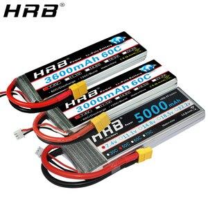 HRB 2S 7.4V Lipo Battery XT60 1800mah 2600mah 3300mah 3600mah 4000mah 5000mah 5200mah 6000mah 8000mah 10000mah RC Airplane Parts(China)