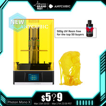 Anycubic Photon Mono X 3D Printer 8.9 Inch 4K Monochroom Lcd Uv Hars Printers 3D Afdrukken Hoge Snelheid App controle Sla 3D Printer