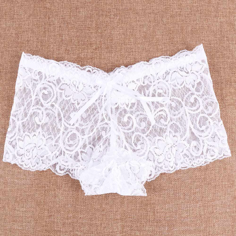Women Sexy Lace Panties See-through Lingerie Briefs Underwear Thin Hollow Breathable Panties Boxers