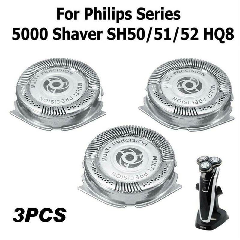 3pcs Replacement <font><b>Shaver</b></font> Head Blade Cutters Fit For <font><b>Philips</b></font> Norelco Electric Razor Series <font><b>5000</b></font> SH50 SH51 HQ4 HQ8 image