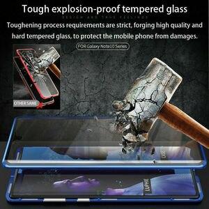 Image 5 - כפול צדדי זכוכית מגנט מקרה עבור סמסונג גלקסי הערה 10 9 8 S10 S8 S9 בתוספת S10e A50 A70 A60 a51 A71 מגנטי 360 מלא כיסוי