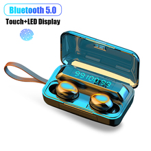 Now F9 Bluetooth Wireless headphone TWS 5.0 earphone 9D Stereo Touch Headset Bass Noise Cancelling S
