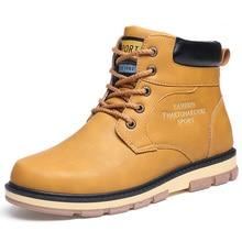 Super Warm Mens Winter Pu Leather Ankle Boots Men Autumn Waterproof Snow Leisure  Shoes