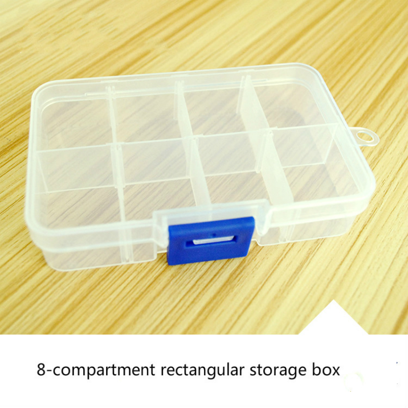 Plastic Storage Box 8 Rectangular Transparent Box Cosmetic Organizers Practical Jewelry Accessories Tool box