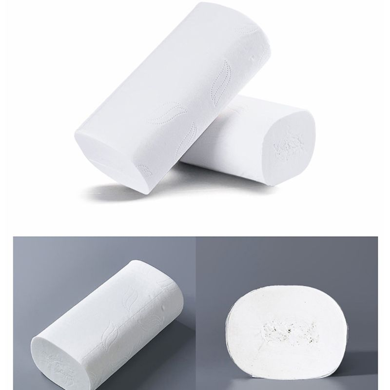 10 Rolls Toilet Paper No Fluorescent Agent Soft Stronge 4-Ply Sheets Bath Tissue 50JF