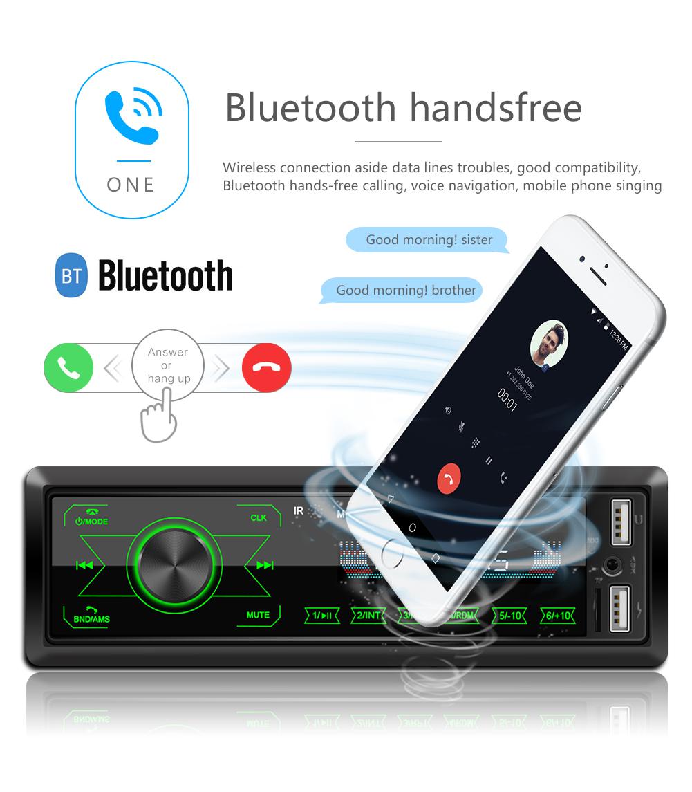 Autoradio Bluetooth Freisprecheinrich FM MP3 USB//SD MMC Port 1DIN Car Player NEU