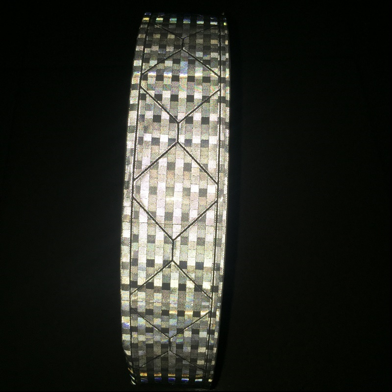 High Light Flashing Warning Reflective PVC Tape For The Clothing Reflective Vest Strip PVC  Reflective Material