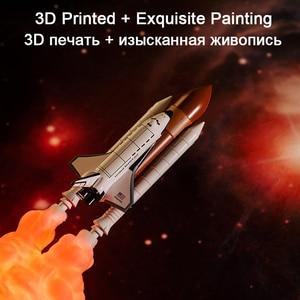 Image 3 - 2019新ドロップシッピングスペースシャトルランプと月の夜の光ランプ3Dプリントスペース愛好家によるロケットランプ