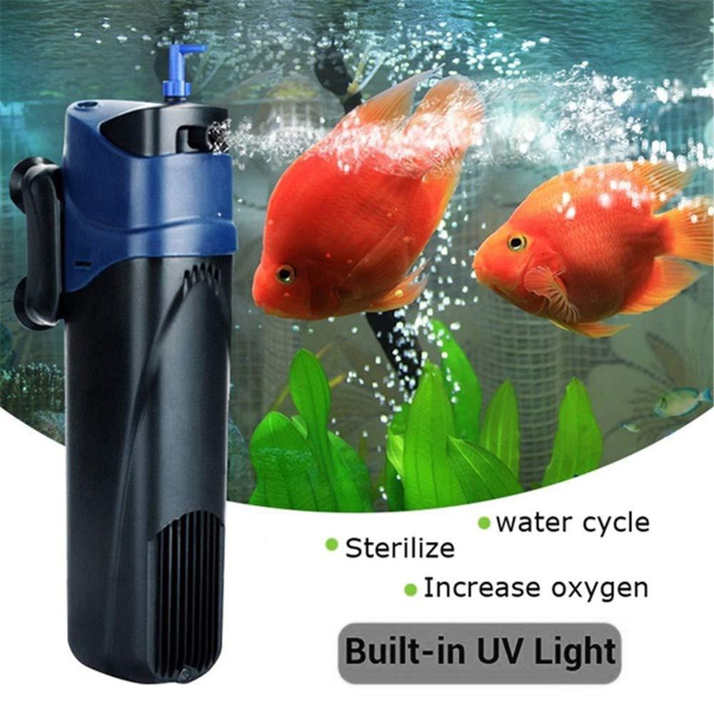 Aquarium Uvc Lamp Lights Sterilizer Uv Remove Algae Pump Bactericide For Filter Water Circulating Contains Filter Cotton