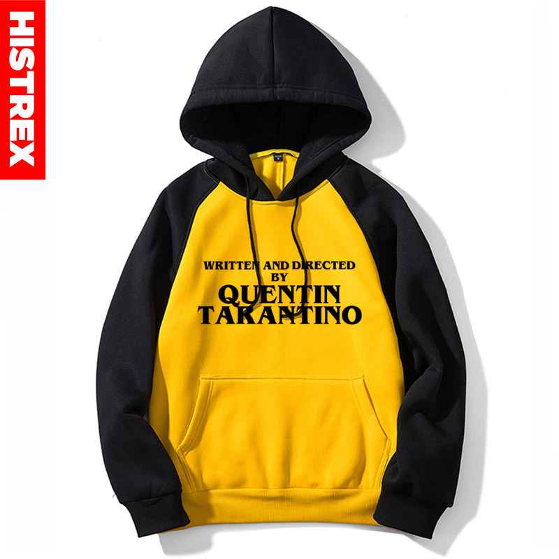 HISTREX New Men Hoodie Quentin Tarantino WRITTEN AND DIRECTED BY QUENTIN TARANTINO Yellow Women Hoody Sweatshirts 2