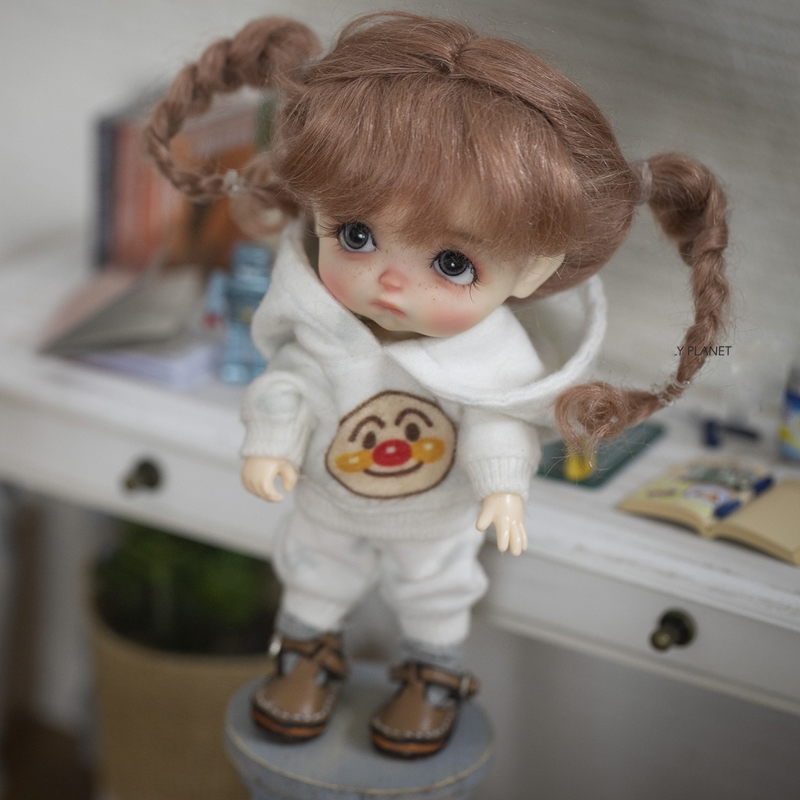 1/8 BJD Wig Super Doll Wig Cute Lovely  Mohair With Two Braid For BJD Doll Hair Wig