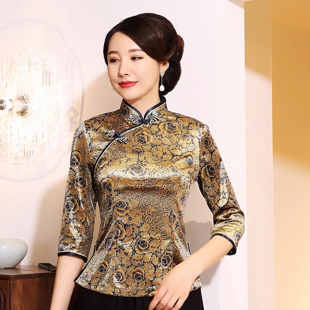 Ropa Tradicional De Tang Para Mujer Blusa De Cuello Mandarin Asiatico Tallas Grandes 3xl 5xl Camisetas Retro Ropa Elegante Camisa Clasica Parte Alta Aliexpress