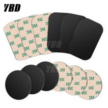 Soporte magnético para teléfono YBD, soporte magnético para teléfono, placa de Metal para coche, soporte para teléfono, placa de Metal, hojas de hierro para soporte magnético de teléfono de coche