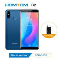 Original HOMTOM C2 version mondiale smartphone Android 8.1 téléphone portable visage ID 4G-LTE Quad Core13MP double caméra téléphone portable nouveau