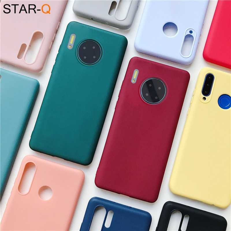 Mate 30 Pro Candy Kleur Siliconen Telefoon Case Voor Huawei Mate 20 Lite Pro Soft Matte Tpu Cover Mate 10 lite Mate 9 Pro Case