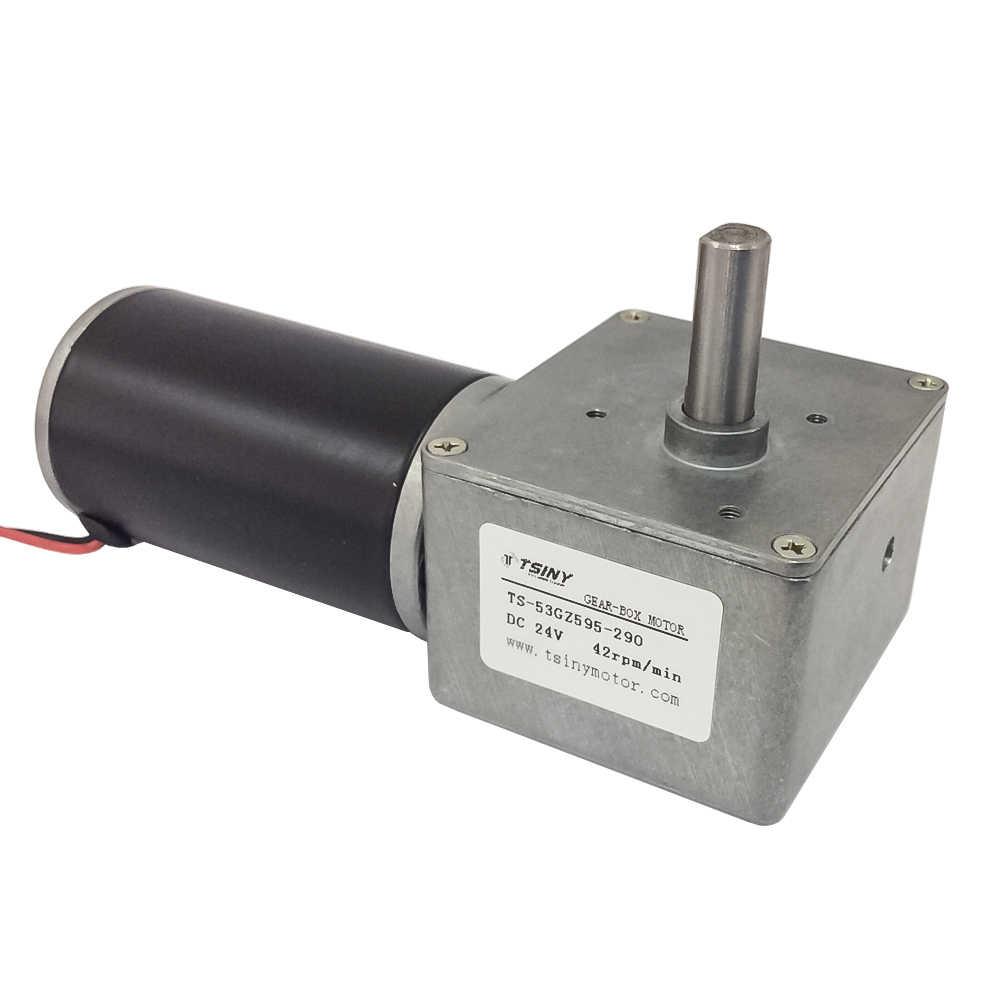 53GZ595 DC ギアモーター 12V 24V 22/42RPM で還元装置と高トルク電動ギアモーターと CW/CCW セルフロック機能