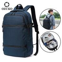 OZUKO casual Männer Schule Rucksack Große Kapazität Multifunktionale Wasserdichte Jugendliche Business travel pack Gepäck Taschen