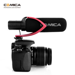Comica CVM-V30 PRO Camera Microphone Electric Super-Cardioid Directional Condenser Video Microphone for Video Interview Camera