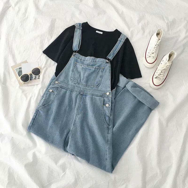 Jeans Woman High Waist Loose Button Boyfriend Jeans Woman Plus Size Jeans Overalls Blue 2019 Spring Autumn