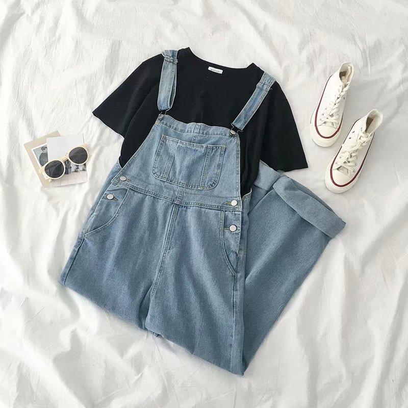 Jeans Woman High Waist Loose Button Boyfriend Jeans Woman Plus Size Jeans Overalls Blue 2019 Spring Autumn