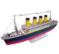 Creative 3D Wooden TITANIC Luxury Cruise ship Puzzle Model DIY Assembly Kids Games Toys For Children Teens Adult