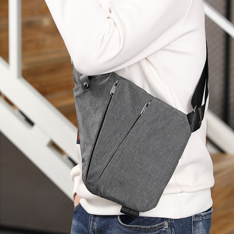 HOT Men's Messenger Bag Oxford Burglar Wearable Bag Multifunctional Solid Durable Outing HV99