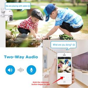 Image 3 - 1080P PTZ IP kamera Wifi açık Dome kablosuz Wifi güvenlik kamerası Pan Tilt 4X dijital Zoom 2MP ağ CCTV gözetim