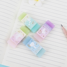 Cute Style Double Color Eraser Primary Student Prizes Gift Stationery