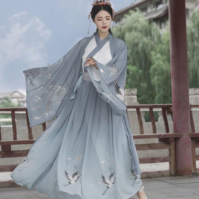 Chinese Folk Dance Dress Women Retro Tang Dynasty Girl Noble Princess Cosplay Stage Clothing Lady Vintage Hanfu Dance Wear