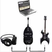 Wholesale Hot Guitar Cable Audio USB Link Interface Adapter For MAC/PC Music Recording Accessories For Guitarra Players Gift(China)