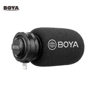 Image 1 - BOYA BY DM200 דיגיטלי סטריאו Cardioid הקבל מיקרופון מעולה קול עבור עבור iPhone iPad iPod Touch התקני הקלטה