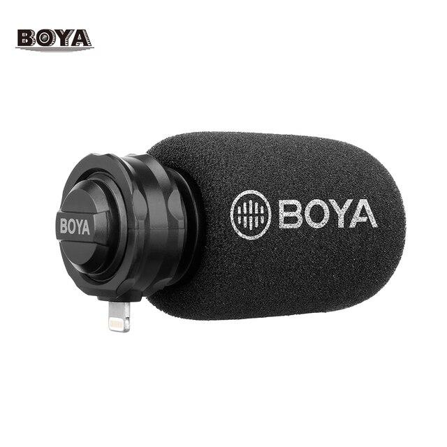 BOYA BY DM200 dijital Stereo kardioid kondenser mikrofon süper ses için iPhone iPad iPod dokunmatik cihazlar için kayıt