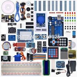 Proyecto Weikedz R3 Kit completo de iniciación con CD de lección, tablero R3, cable de puente, para ar-du-ino