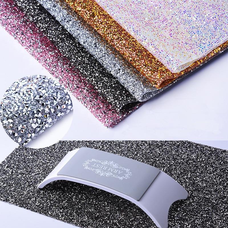 Nail Art Full Rhinestone Table Mat Tablecloth Background Cloth Diamond Super Flash Pendulum Shooting Small Fresh Photo Props