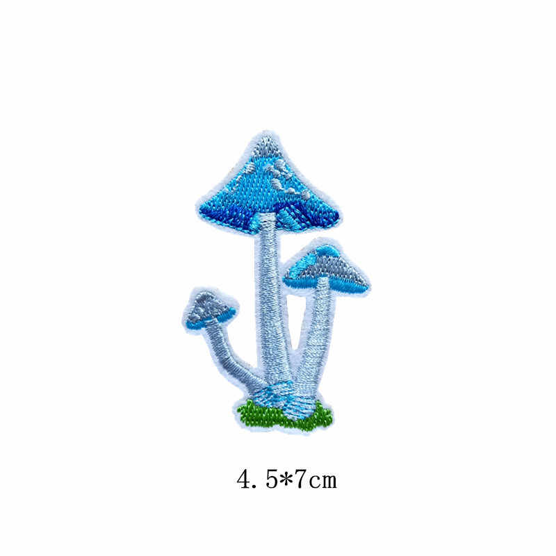 New Cactus Mushroom Succulent Plant Embroidered Patch Applique Cute Patches Fabric Badge Garment DIY Apparel Accessories Badges