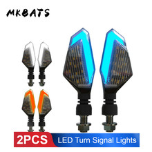 Universal Motorcycle Turn Signals Lights Flashing LED DRL Indicator Blinker Cafe Racer Lightings