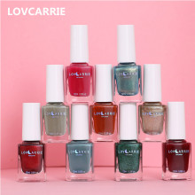 LOVCARRIE 12ML Nail Polish Ordinary Regular Polish Nail Art Lacquer Manicure Varnish Matte Finish Glossy Holographic Nail Polish